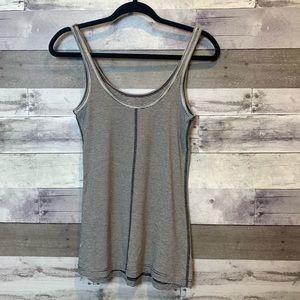 lululemon athletica Tops - Lululemon Gray Striped Workout Tank Top